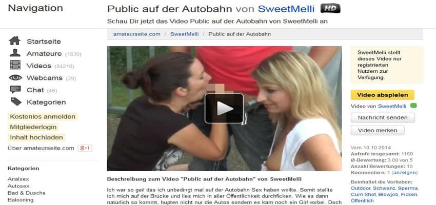 Autobahn Sex Public